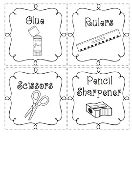 Black and White Supply Labels