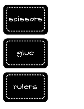 Black and White Supply Labels - FREEBIE!!