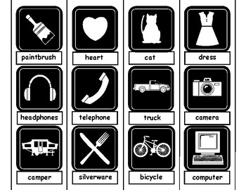 Black and White Symbol Labeling For Autism