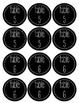 Black and White Table Numbers  (1-10)