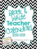 Black and White Teacher Calendar {2017-2018}