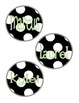 Black and White Theme Book Basket Tags