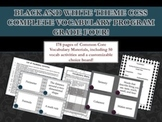 Black and White Theme Grade Four CCSS Complete Vocabulary Program
