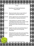 Black and White Theme Grade Three Common Core Lesson Plann