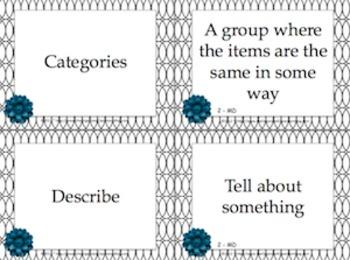 Black and White Theme Grade Two CCSS Complete Vocabulary Program