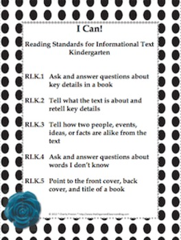 Black and White Theme Kindergarten Common Core Lesson Planning Pack
