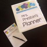 Black and White Theme Teacher Lesson Planner
