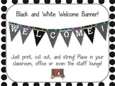 Black and White Theme Welcome Banner