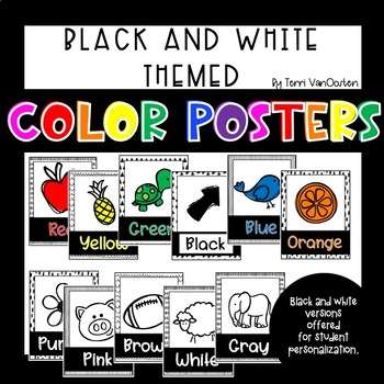 Black and White Themed Color Posters