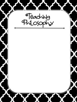 Black and White Themed Secondary Teaching Portfolio