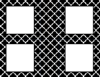 Black and White Tile Classroom Tags and Labels