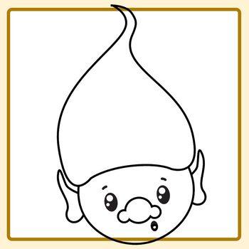 Black And White Troll Expressions Emotions Emoji Clip Art Rh  Teacherspayteachers Com Poppy Troll Clipart Black And White