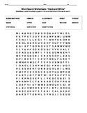 Black and White Vocabulary Week 2 Word Search