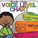 Black and White Voice Level Chart