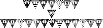 "Black and White ""WELCOME to KINDERGARTEN!"" Pennant Banner"