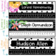 Black and White Watercolor Floral Nametags (Editable)