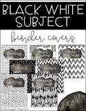 Black and White Watercolor Splash Subject Binder Covers
