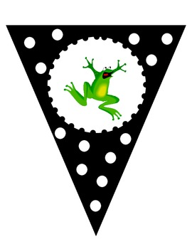 Black and White Welcome to __ Grade Banner - Frog Theme