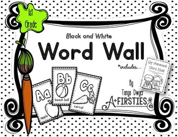 Black and White Word Wall {1st Grade}