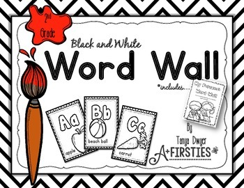 Black and White Word Wall {2nd Grade}