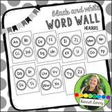Black and White Word Wall Headers