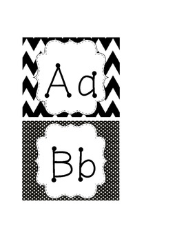 Black and White Word Wall Headings