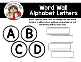Black and White Word Wall Letters with Blank Word Cards