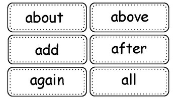 Black and White Word Wall Words and Headers