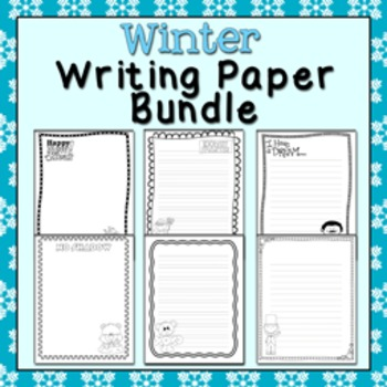 Winter Black and White Writing Paper Bundle