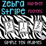 Zebra Print Decor Number Posters 0 to 20