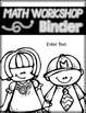 Black and White editable binder covers
