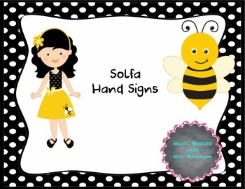 Black and White themed Solfa hand sign posters