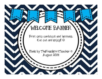 Black and WhiteChevron Welcome Banner