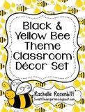 Black and Yellow Bee Theme Classroom Decor Set