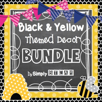 Classroom Decor Bundle Black and Yellow {Bumblebee} Themed