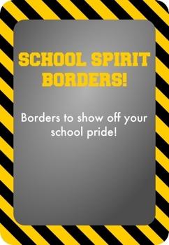 Black and Yellow / Gold - School Spirit Borders 9 Pack