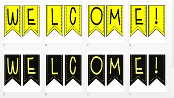 Black and Yellow Label Set *EDITABLE*