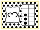 Black and Yellow Polka Dot Ten Frame Number Posters