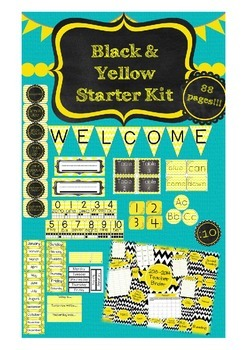 UPDATED!!! Black and Yellow Starter Kit with Ultimate Teacher Binder