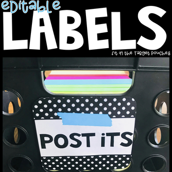 Black and blue EDITABLE square labels