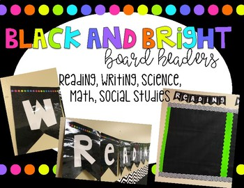 Black and bright- subject board headers