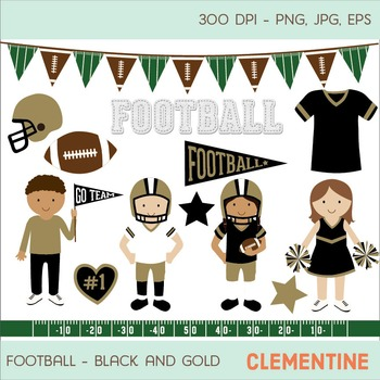 Black and gold football clip art