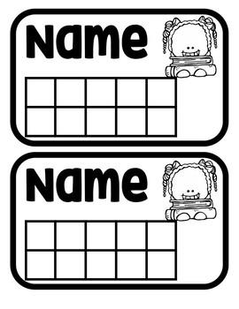 Black and white Behavior student star cards
