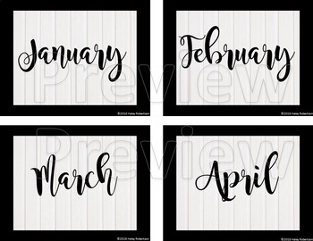 Black and white birthday chart pieces EDITABLE