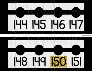 Black and white number line to 120 or 200