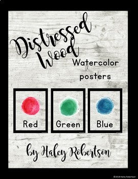 Distressed Wood color posters