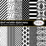 Black and white digital papers
