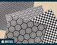 Black and white geometric digital paper