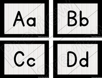 Black and white word wall headers *Smaller size* EDITABLE