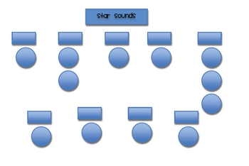 Black border phonogram/chunking wall with resources